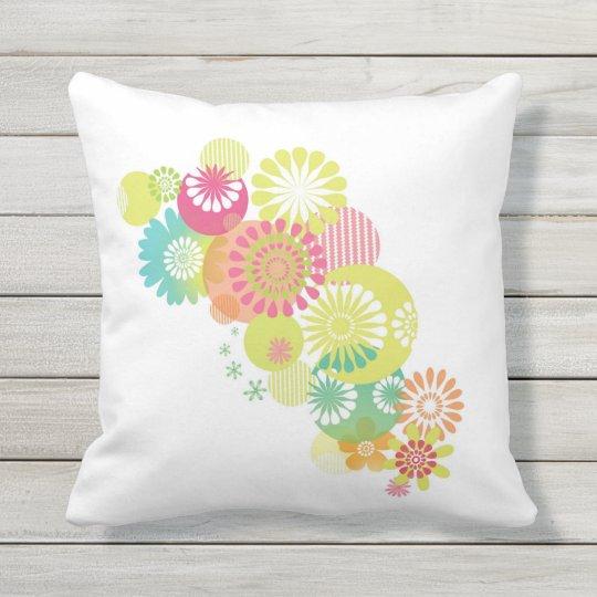 Flowers Outdoor Pillow