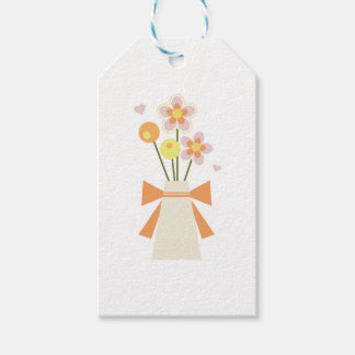 flowers pack of gift tags