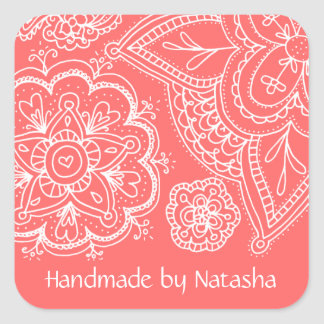 Flowers & Paisley Patter, ID Stickers