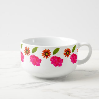 Flowers Pattern Soup Mug