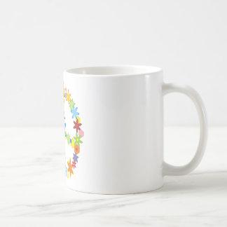 Flowers Peace Sign Mugs