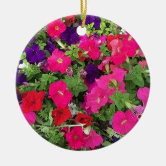 Flowers Photo Ceramic Ornament