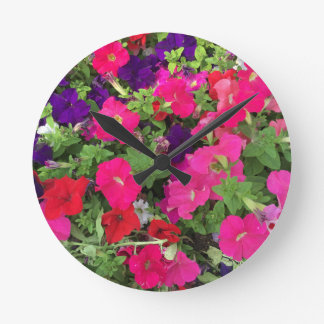 Flowers Photo Round Clock