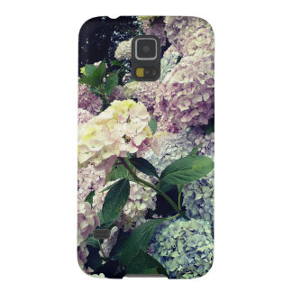 Flowers Pink Blue Hydrangea blossoms Case