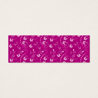 flowers pink mini business card