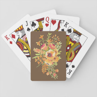 flowers Playing Cards, Standard Index faces Playing Cards