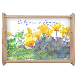 Flowers Poppies tray