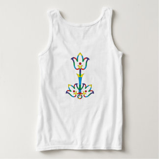 Flowers primary colors tank top