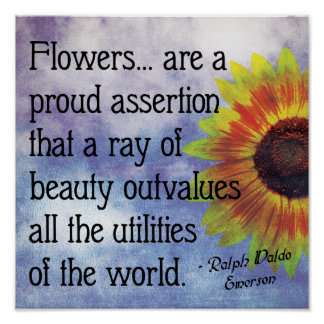 Flowers quote poster