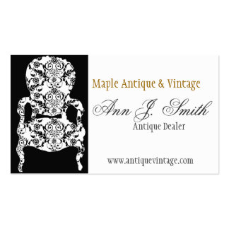 Flowers Retro Lace Vintage Floral Damask Furniture Business Card