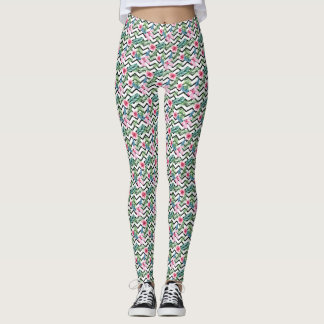 Flowers &  Roses  & Leaves Leggings