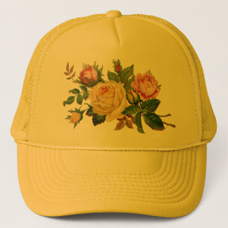 flowers,roses trucker hat