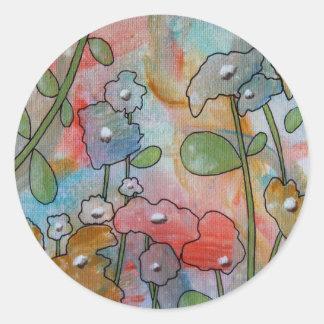 Flowers Round Sticker