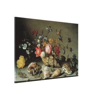 Flowers, Shells and Insects Balthasar van der Ast Canvas Prints