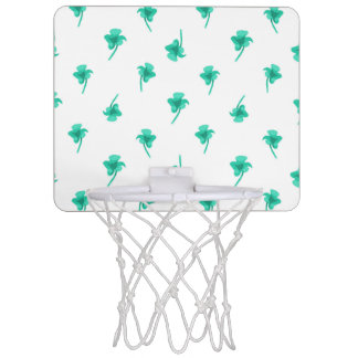 Flowers Silhouette Pattern Design Mini Basketball Hoop