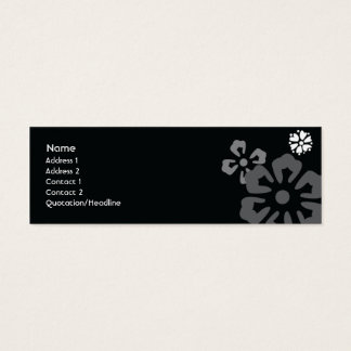 Flowers - Skinny Mini Business Card