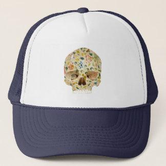 Flowers & Skull Trucker Hat