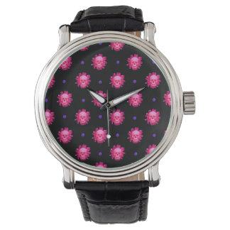 Flowers & Skull Watch