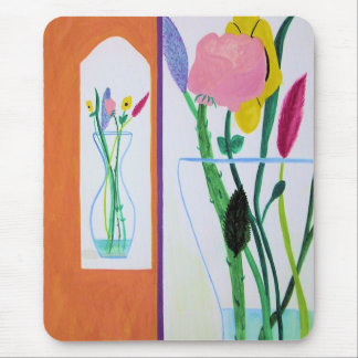 Flowers small and big. Bright, happy, flowery time Mouse Pad
