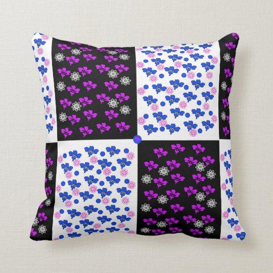 Flowers Square Design Throw Pillow