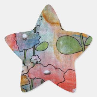 Flowers Star Sticker