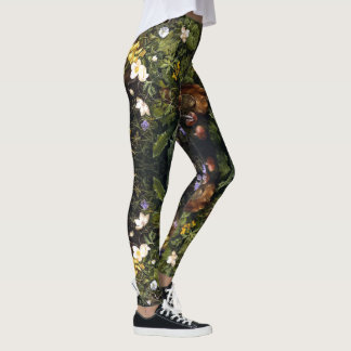 Flowers Still Life All Over Print Leggings