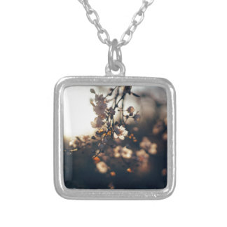 flowers sunset range sunlight silver plated necklace
