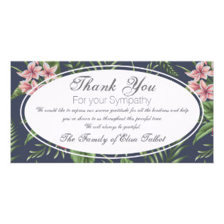 Flowers Sympathy Thank you Photo Card