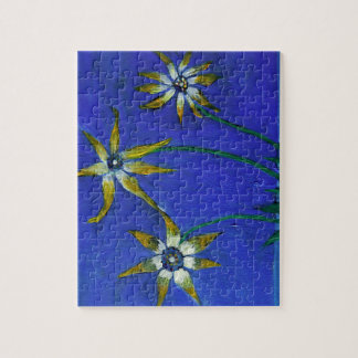 Flowers textured art  Puzzle with Gift Box
