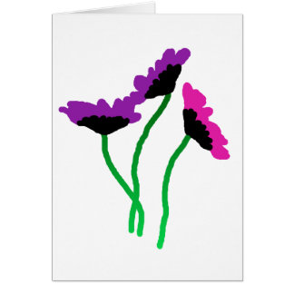 FLOWERS THREE GREETING CARD