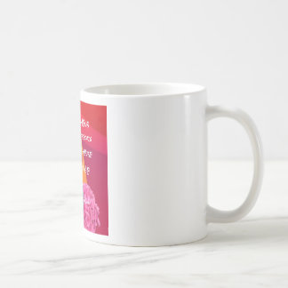 Flowers , time and happiness message. coffee mug