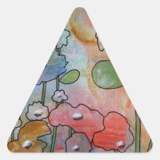 Flowers Triangle Sticker