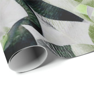 Flowers Tropical Green Greenery Minimal VIP Wrapping Paper
