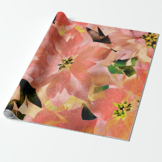 Flowers Tropical Green Rose-Gold Coral Candy Wrapping Paper