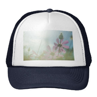flowers trucker hat