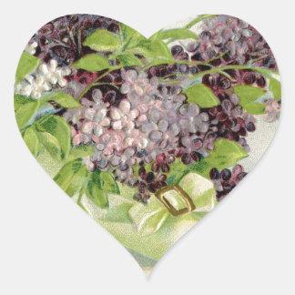flowers Vintage Birthday party victorian petals Heart Sticker