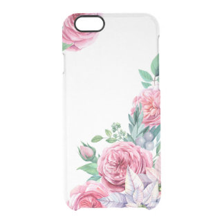 Flowers Watercolor Girly Clearly™ iPhone Case