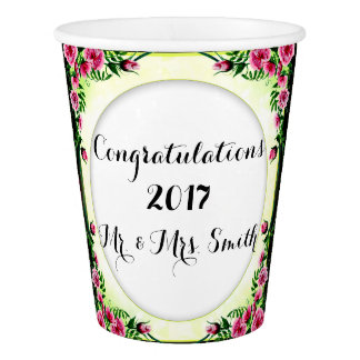 FLOWERS WEDDING  Paper Cup, 9 oz Paper Cup