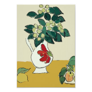 Flowers,White Vase, after Matisse Card