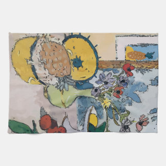 Flowers,White Vase, after Matisse Hand Towels