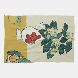 Flowers,White Vase, after Matisse Kitchen Towel