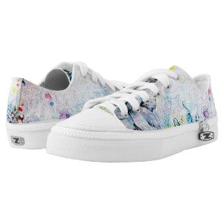 Flowers Wild - Custom Zipz Low Top Shoes