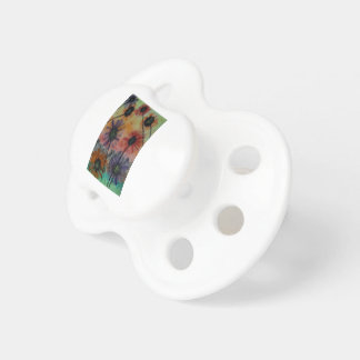 Flowers with birds pacifier