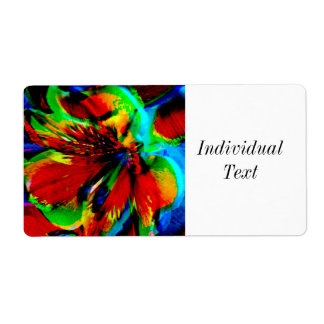 Flowers with color kick 1 shipping label