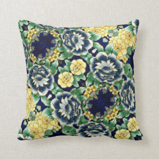Flowers with green bottom - Pillow - Cushion