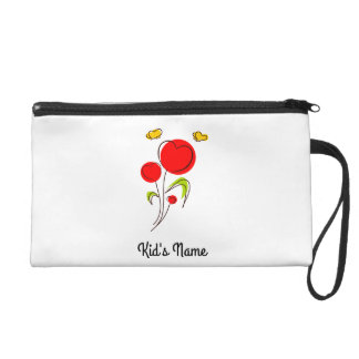 Flowers with Hearts Wristlets