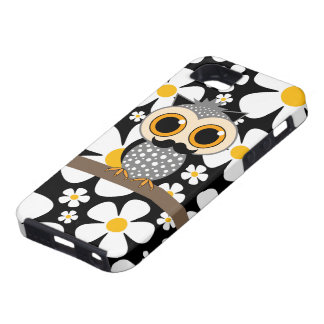 flowers with mustache owl case for the iPhone 5