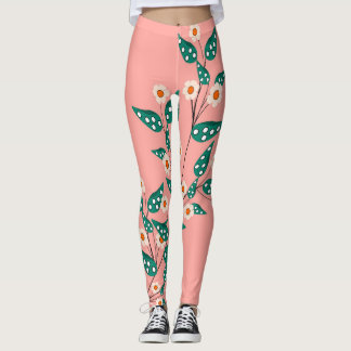 flowers with pink bottom leggings