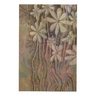 Flowers Wood Wall Art