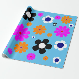 "Flowers Wrapping Paper 30""x6'"